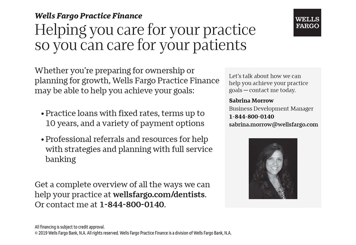 Pierce County Dental Society Wells Fargo Practice Finance